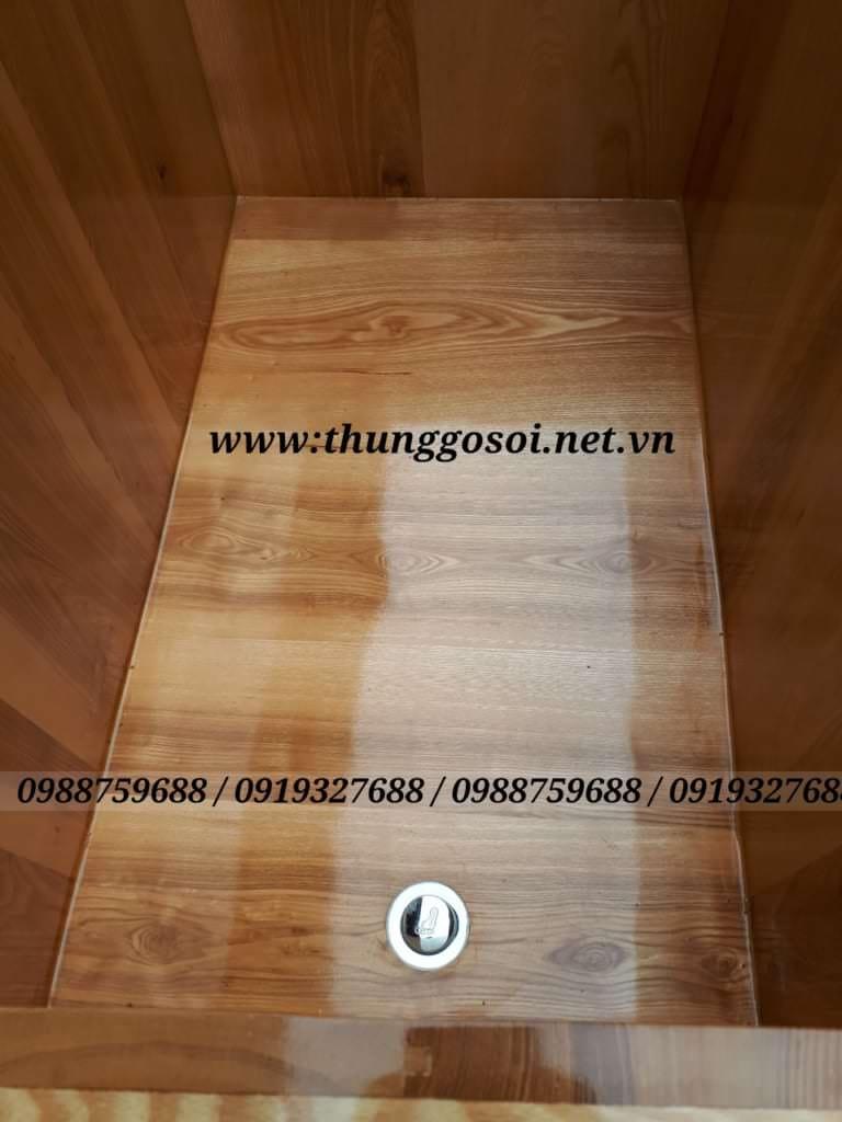 đáy bồn tắm gỗ sồi