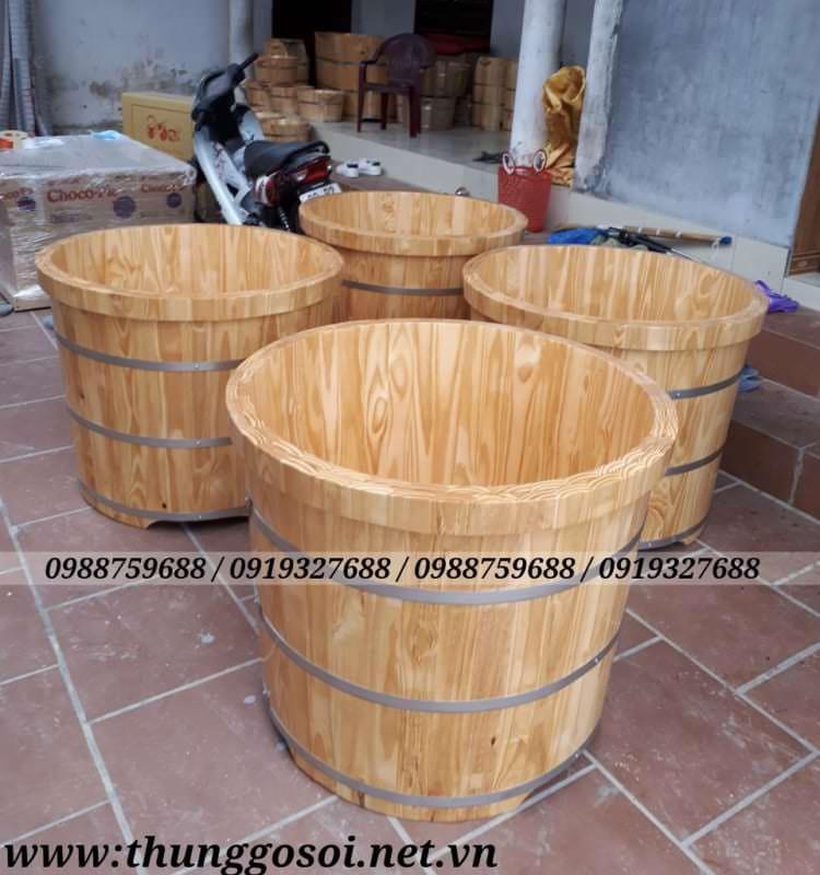 bán bồn tắm gỗ, thùng gỗ tròn