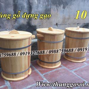 bán thùng gỗ đựng gạo