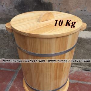 thùng gỗ đựng gạo