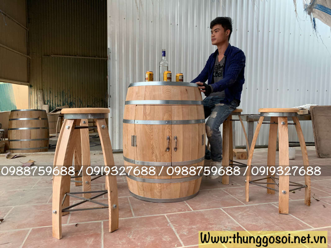 xưởng sản xuất bàn ghế thùng gỗ trang trí