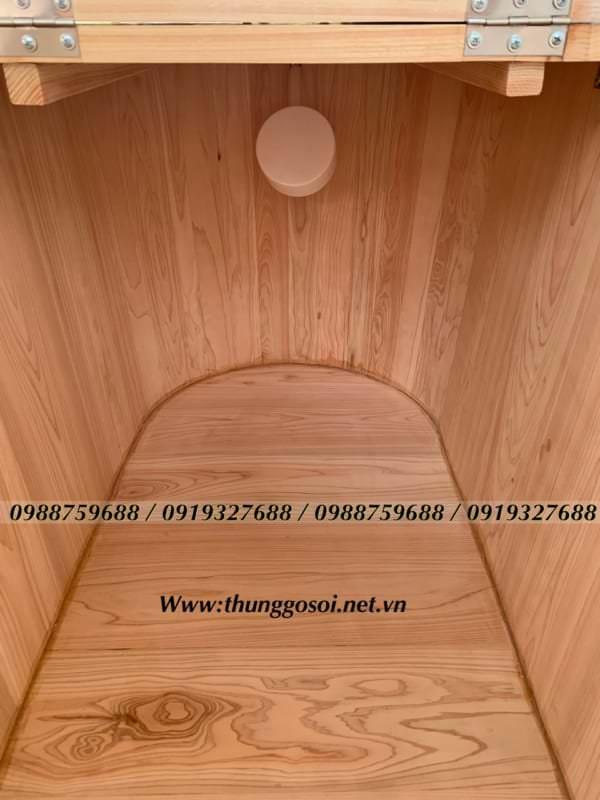 thùng gỗ pơ mu cao cấp