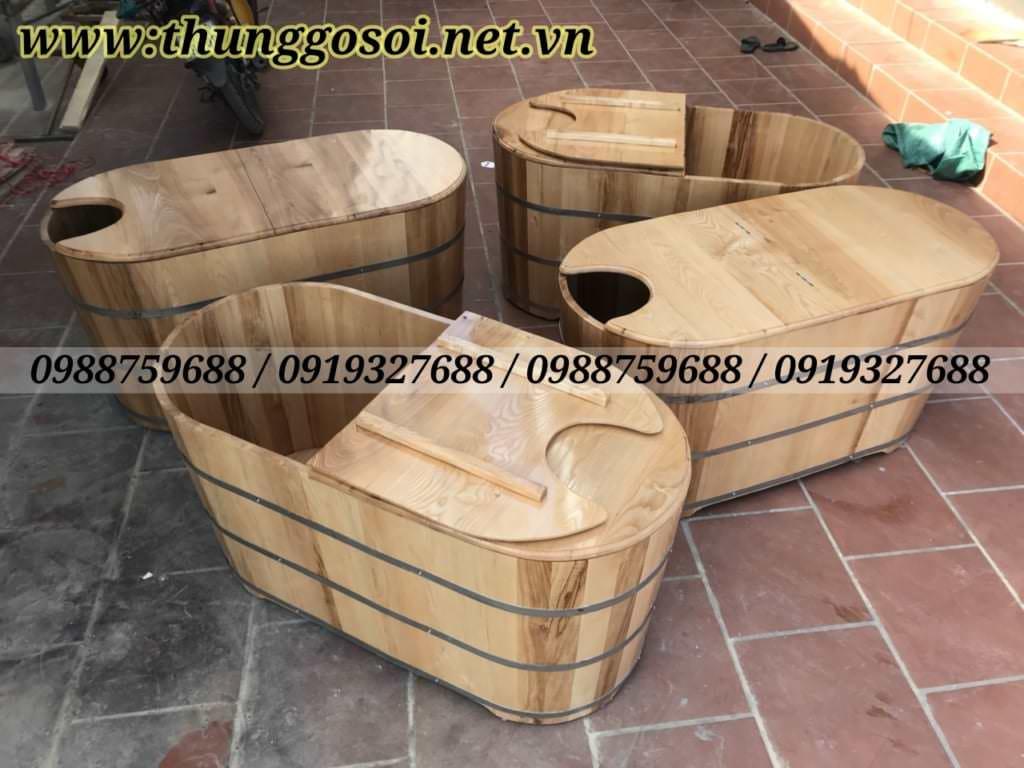 thùng gỗ sồi xông hơi cao cấp