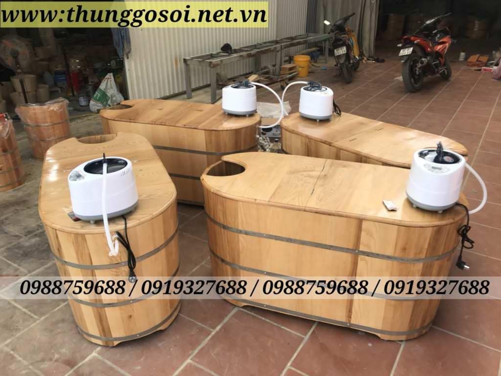 thùng gỗ sồi xông hơi