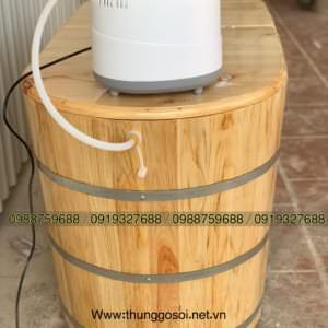 thùng gỗ xông hơi pơ mu