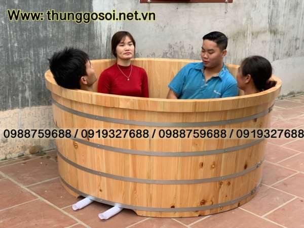 bán bồn tắm gỗ pơ mu cao cấp