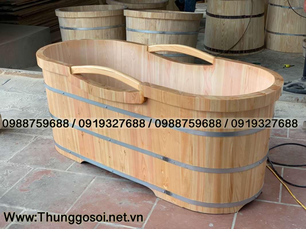 bồn tắm gỗ pơ mu nhật cao cấp