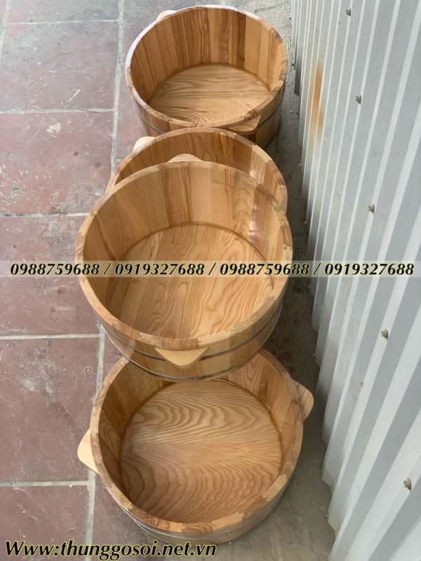 chậu gỗ ngâm mông cao cấp