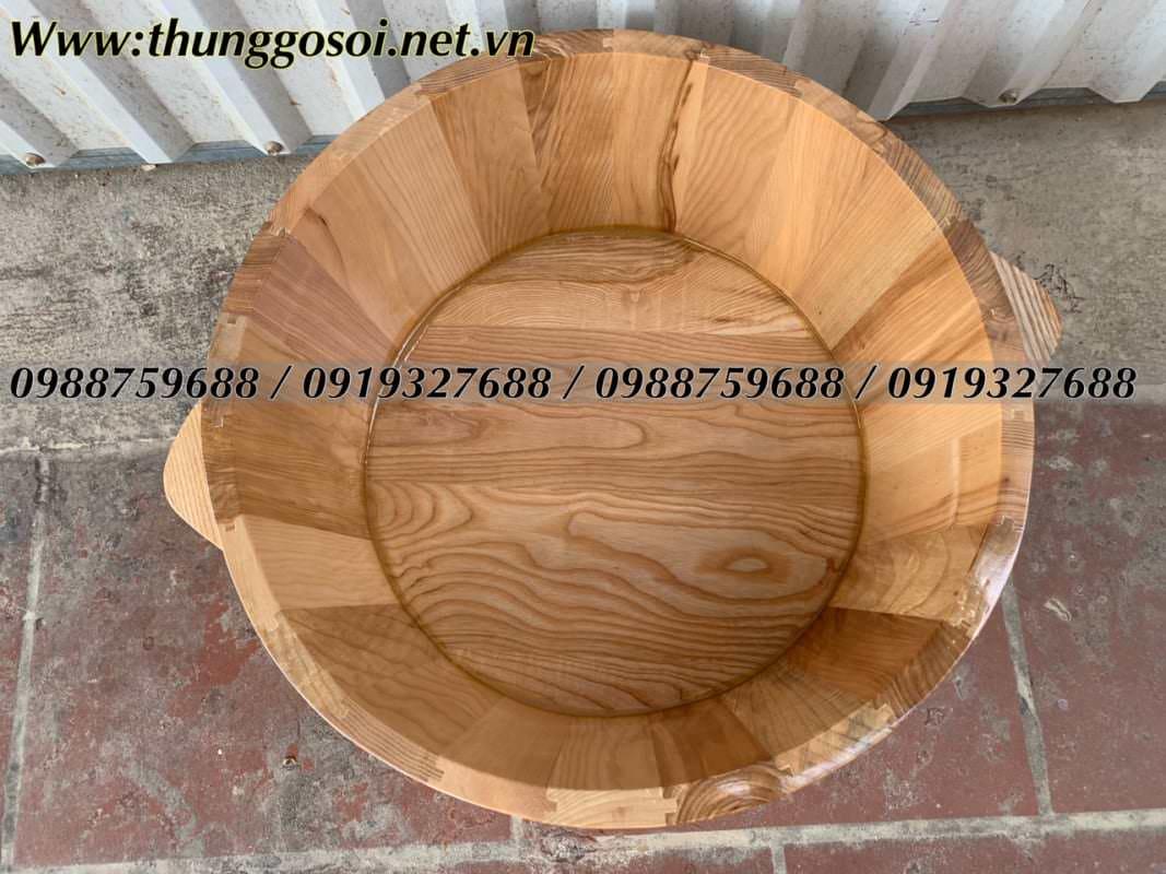 chậu gỗ gỗ sồi