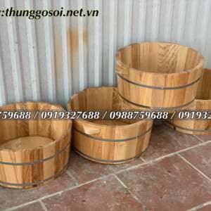 thùng gỗ ngâm mông