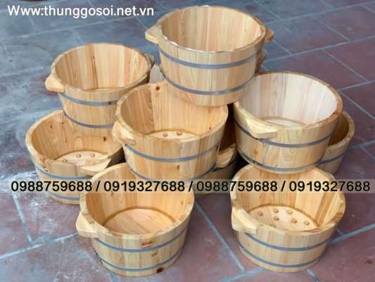 bán bồn gỗ ngâm chân pơ mu