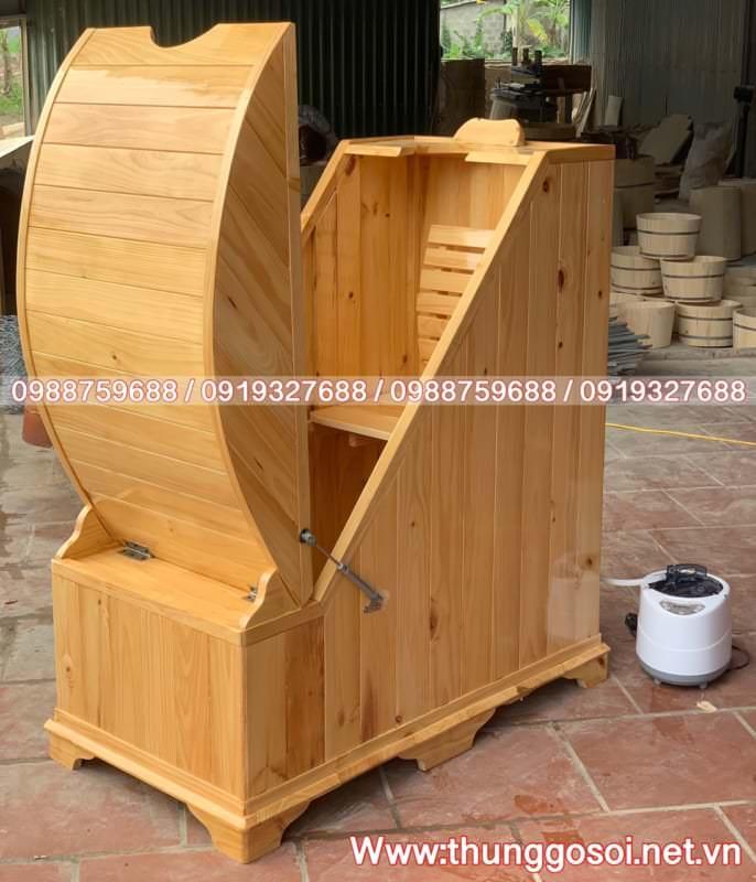thùng xông hơi gỗ