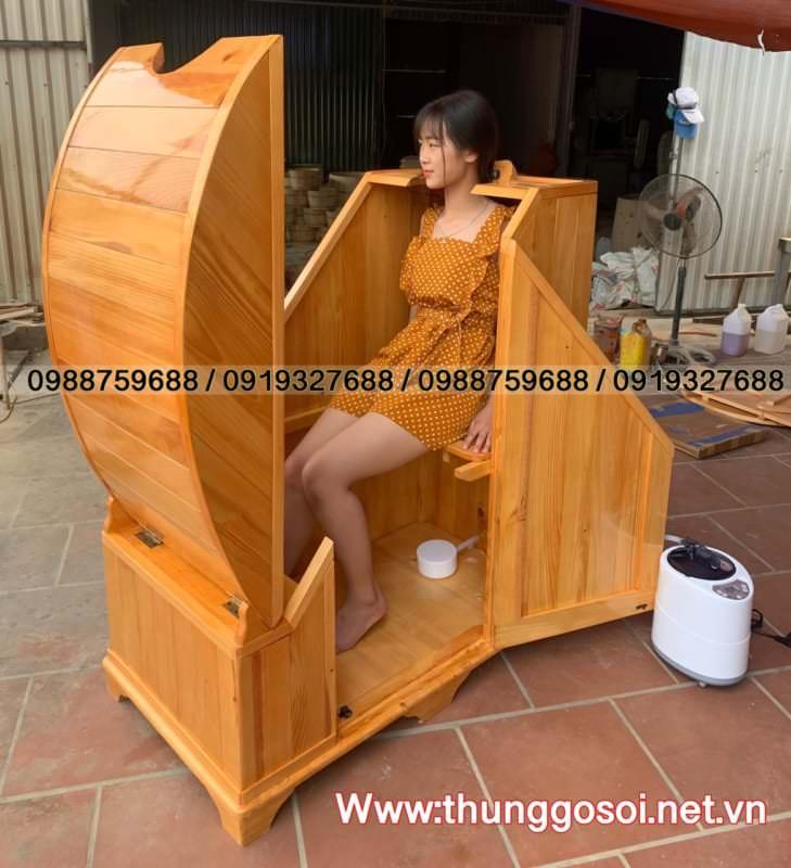 thùng gỗ xông hơi sử dụng được tại nhà