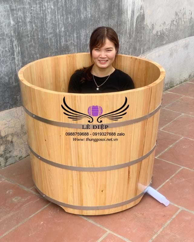 thùng tắm gỗ pơ mu nhật
