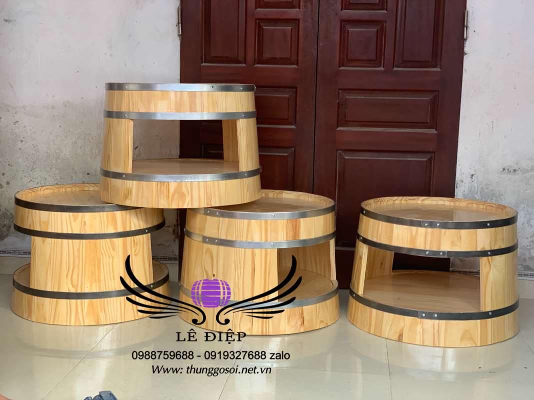 bàn bom rượu gỗ