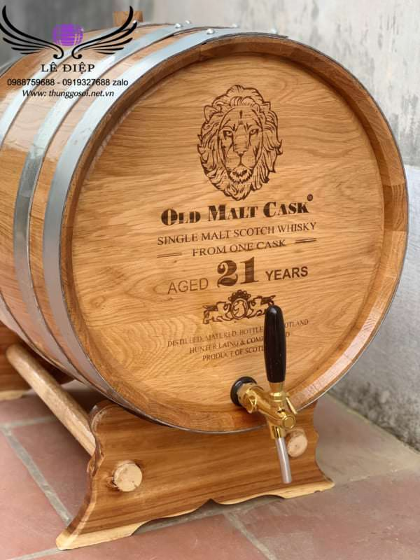 vòi bom rượu gỗ sồi