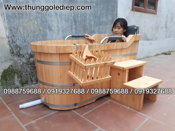 mua bồn tắm gỗ
