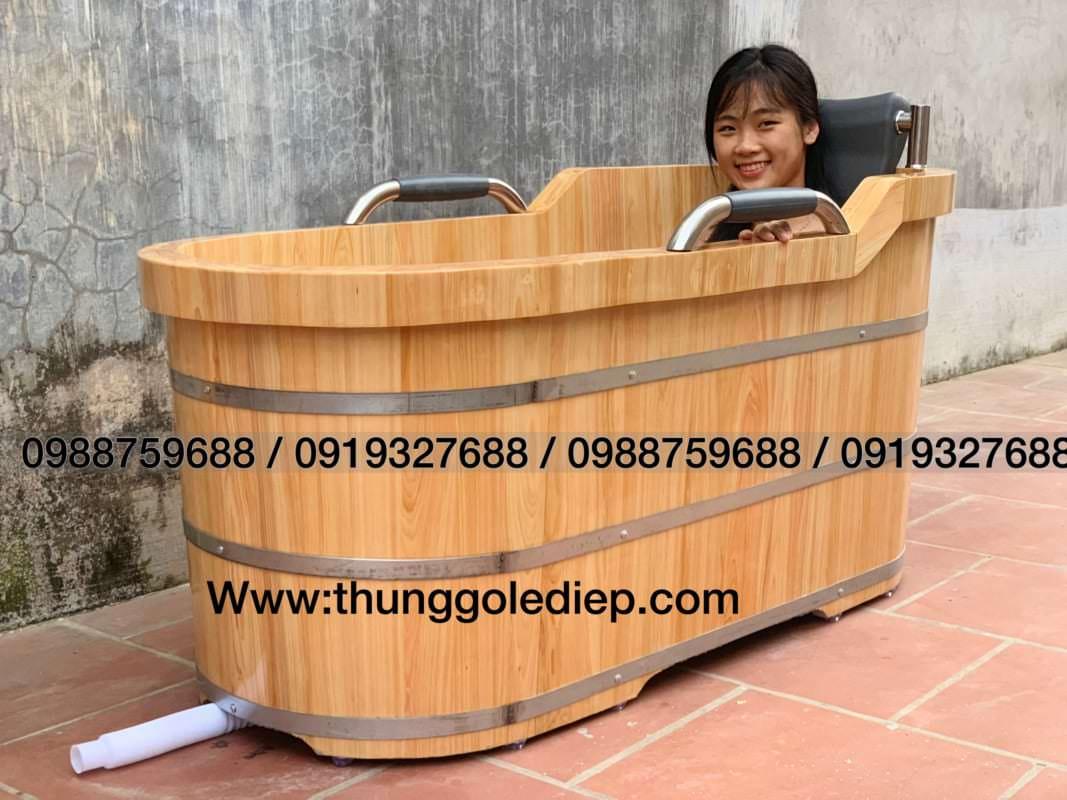 thùng tắm bằng gỗ cao cấp