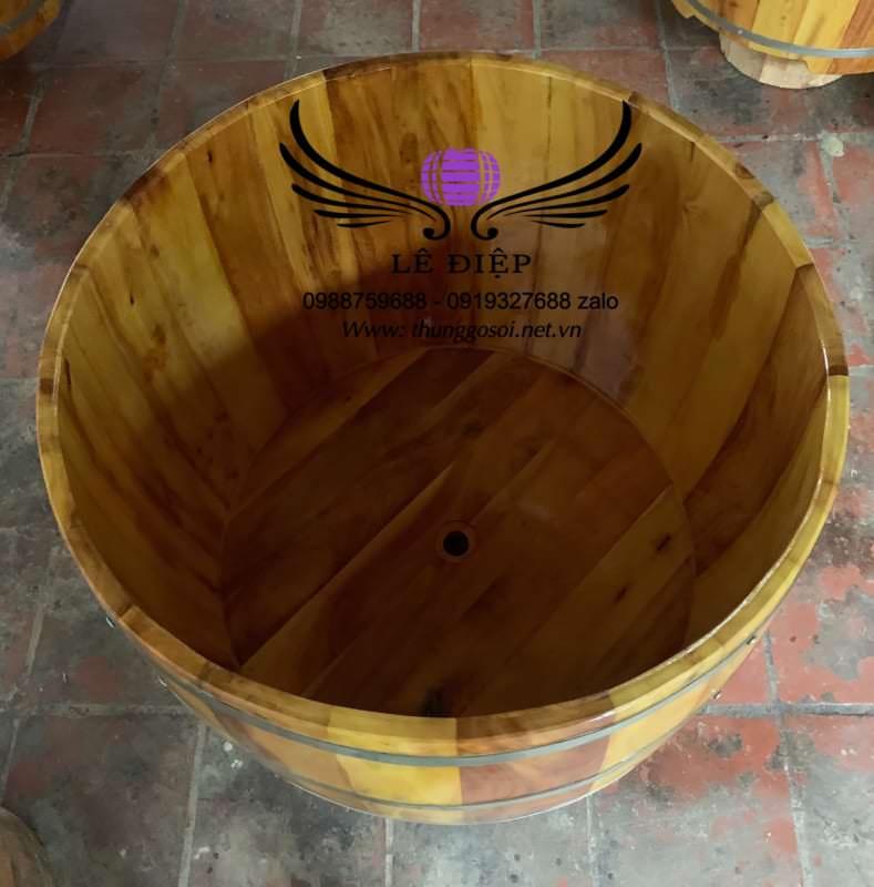 bồn tắm gỗ lõi mít
