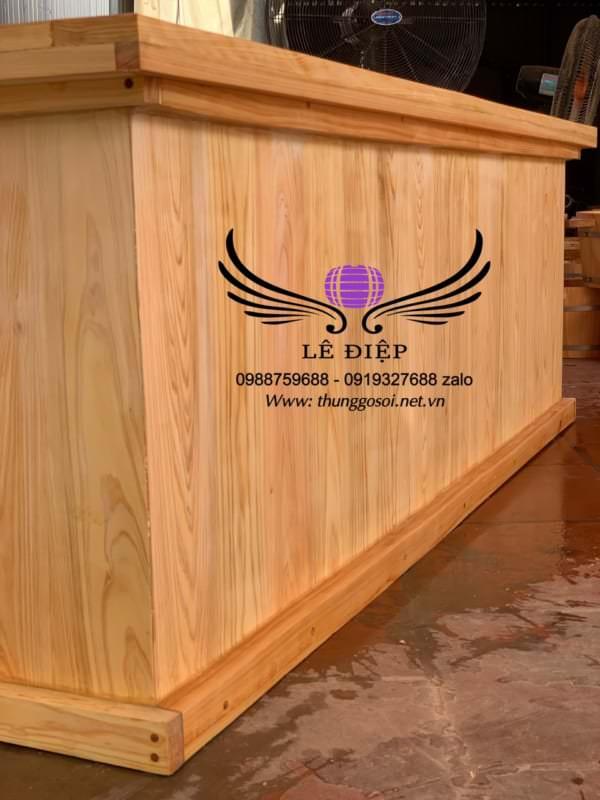 bán thùng tắm gỗ hình chữ nhật