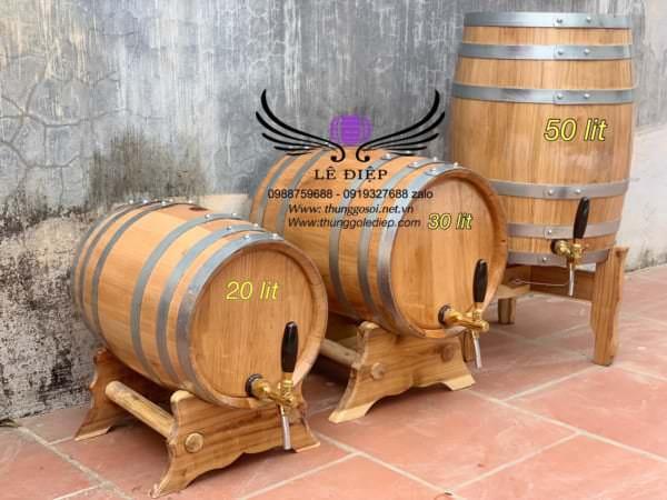 bán thùng ngâm rượu gỗ sồi nhập khẩu