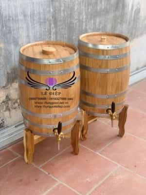thùng ngâm ủ rượu gỗ sồi