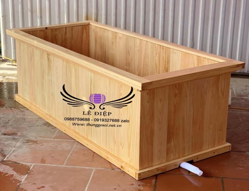 bán thùng tắm gỗ hình chữ nhật trên toàn quốc