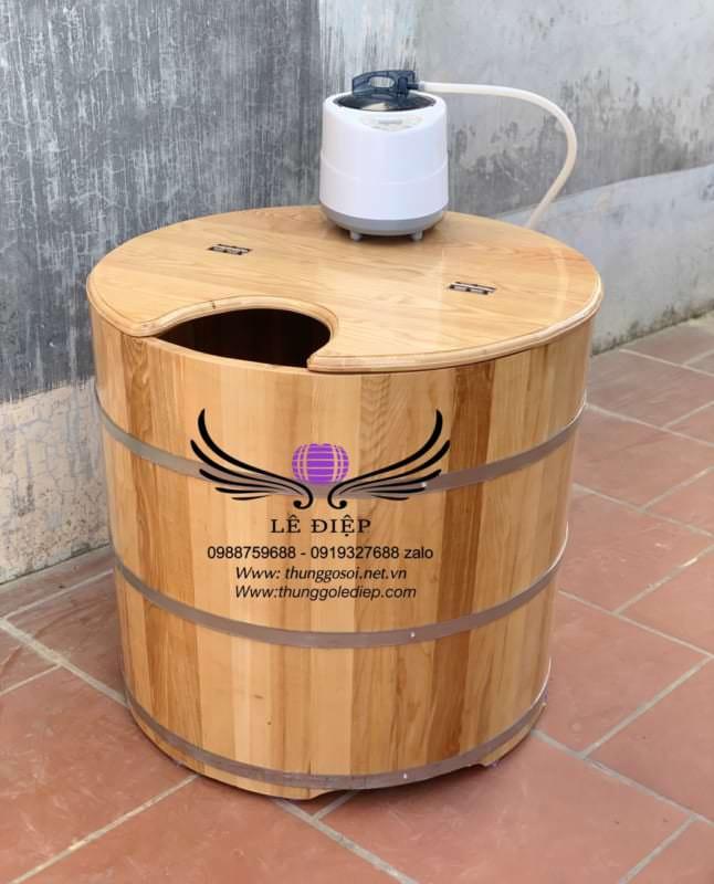 bồn tắm gỗ xông hơi toàn thân