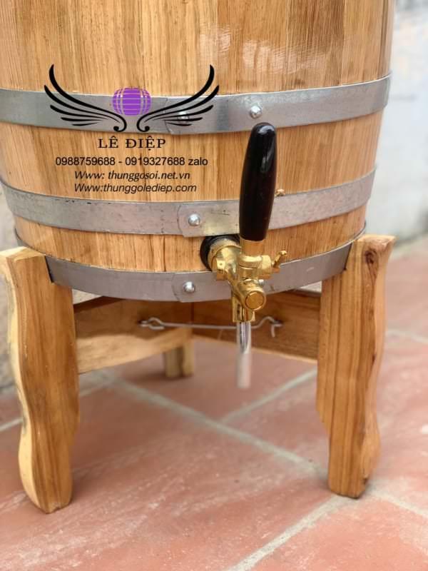 vòi triết thùng ngâm rượu gỗ sồi