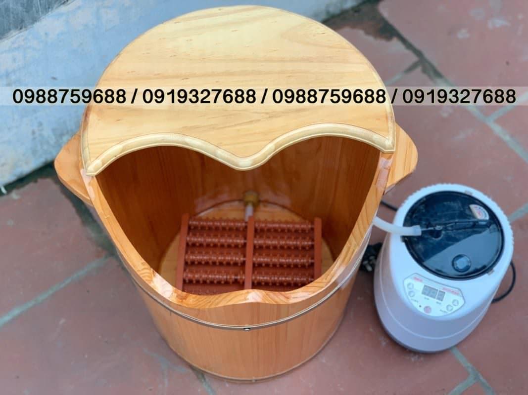thùng gỗ ngâm chân gỗ sồi