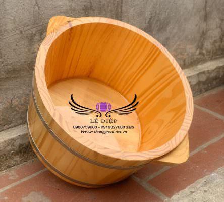 Chậu gỗ ngâm chân gỗ sồi