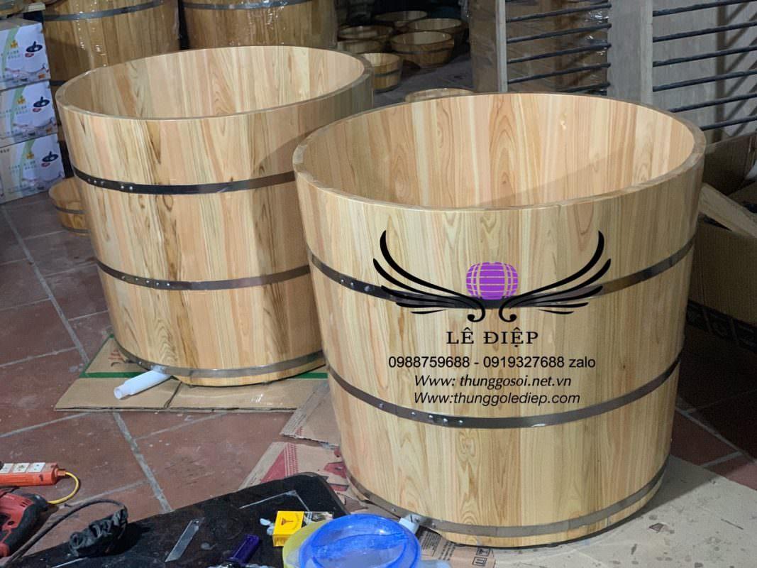 Kích thước bồn tắm gỗ tròn