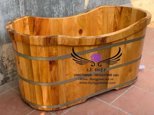Thùng tắm bằng gỗ giá rẻ