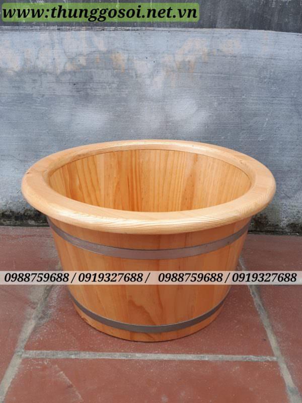 Chậu gỗ ngâm chân