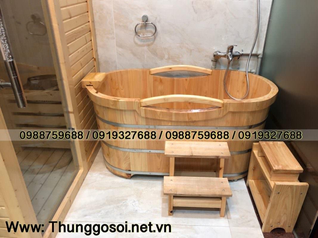 wooden bathtub hinoki