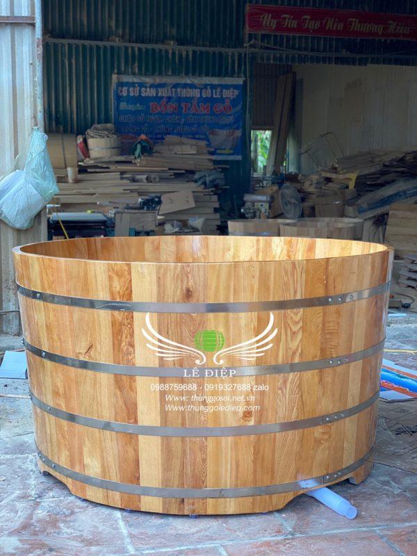 bồn tắm gỗ pơmu dành cho 2 người