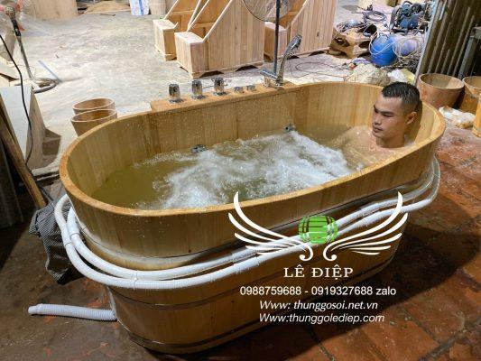 bán bồn tắm gỗ sục massage cao cấp
