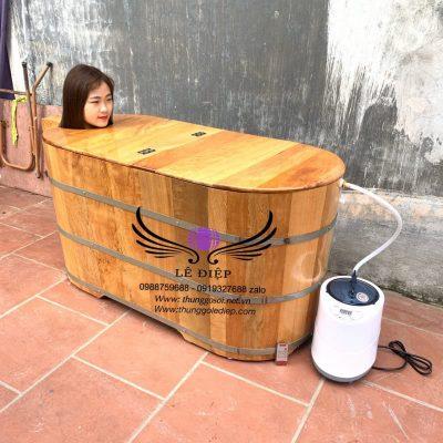 bán bồn tắm gỗ xông hơi