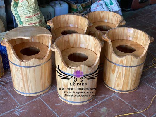 bán thùng gỗ xông hơi vùng kín